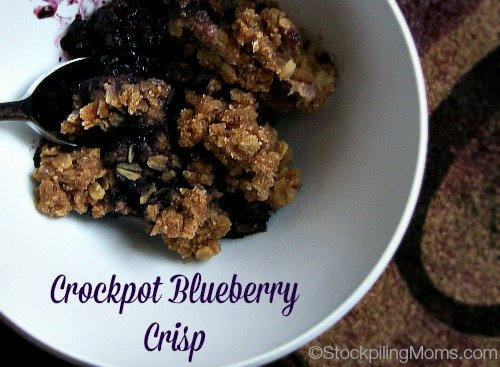 Crockpot Blueberry Crisp is amazing and you only need 6 ingredients in this delicious dessert..