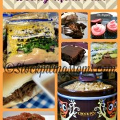 Crockpot Freezer Meal Weekly Menu Plan Collage