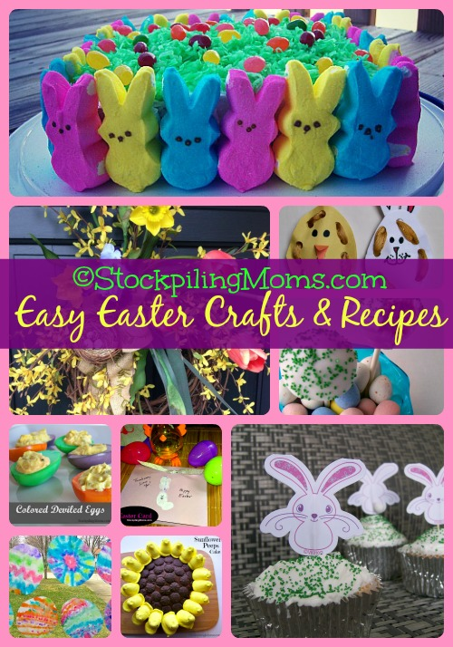 Easy Easter Crafts and Recipes Collage