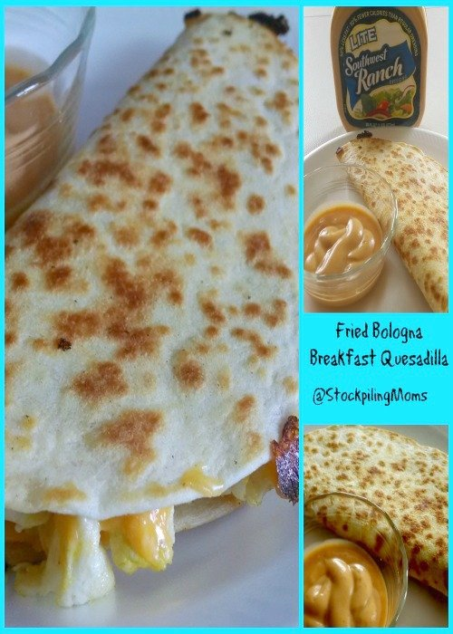 Fried Bologna Breakfast Quesadilla is one of my favorite breakfasts! So easy to prepare and you can make it with any meat!