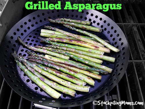 Grilled Asparagus is the perfect side dish to any grilled meat!