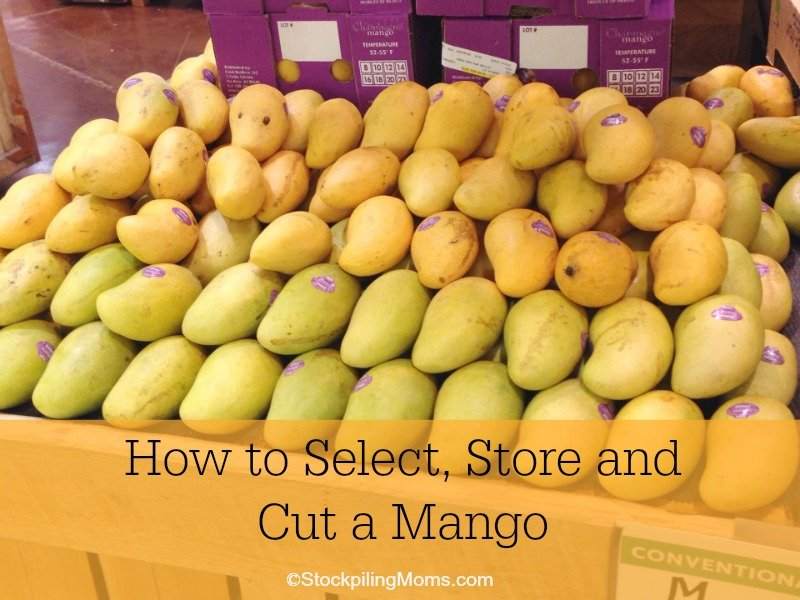 how to store cut mango