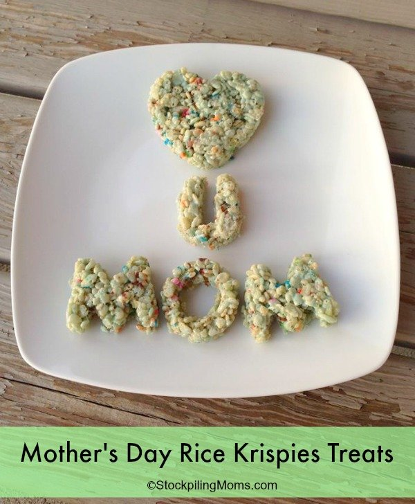 Mother's Day Rice Krispies Treats Recipe are a simple recipe that your kids can make with love.