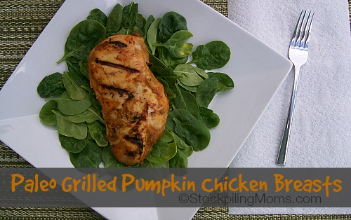 Paleo Grilled Pumpkin Chicken Breasts