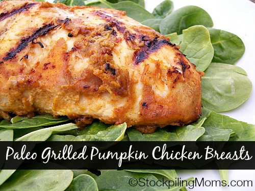 Paleo Grilled Pumpkin Chicken Breasts are easy to make and taste scrumptious!