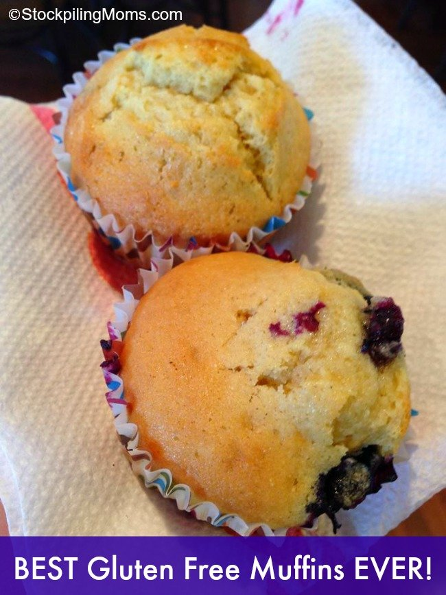 These are seriously the Best Gluten Free Muffins EVER! No one believes they are really gluten free they are that good!