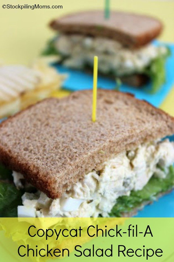 This Copycat Chick-fil-A Chicken Salad tastes AMAZING! Just like the real thing!