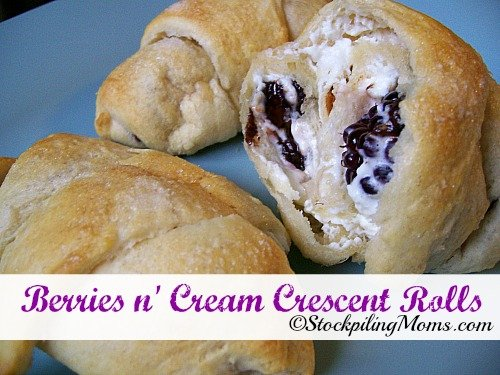 Berries n' Cream Crescent Rolls are simply delicious!