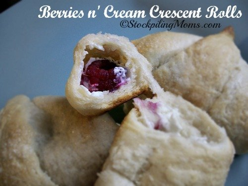 Berries n' Cream Crescent Rolls that you can make in as little as 20 minutes!