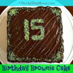 Birthday Brownie Cake