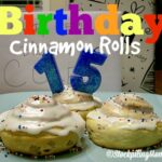 Birthday Cinnamon Rolls
