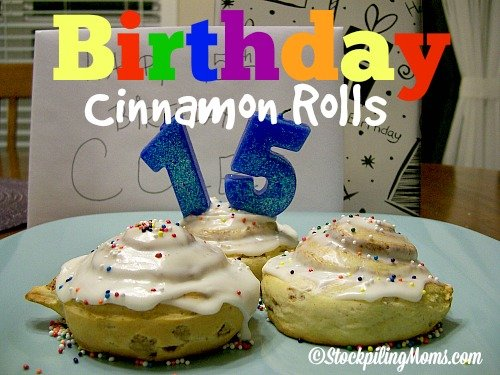 Birthday Cinnamon Rolls are super easy to make! #birthday