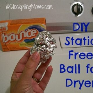 DIY Static Free Ball for Dryer