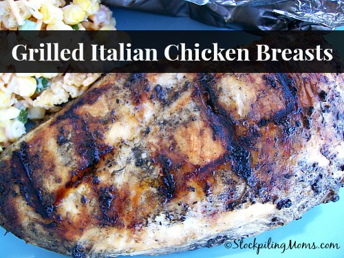 Grilled Italian Chicken Breasts are super easy to make and perfect for summer time!