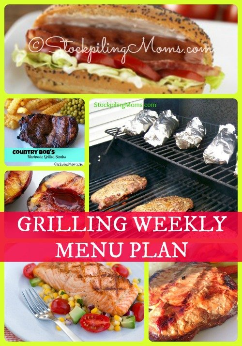 Grilling Weekly Menu Plan