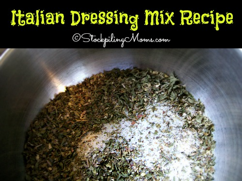 Here is an easy Italian Dressing Mix Recipe! This is a great way to make your own and save money!