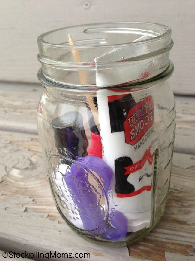 Manicure Jar Gift Idea is a great DIY for gifting!