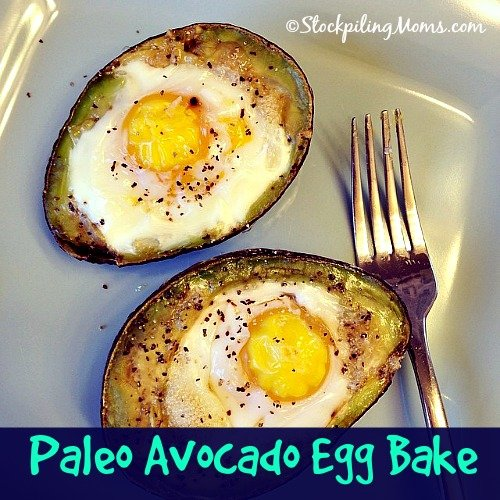 Paleo Avocado Egg Bake Recipe is the perfect breakfast filled with healthy fats!