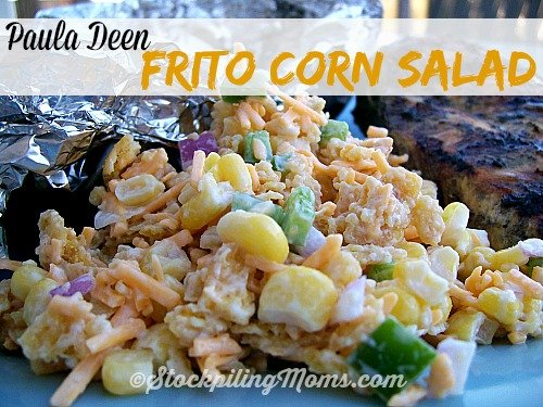Paula Deen Frito Corn Salad is out of this world good! Only 6 ingredients!