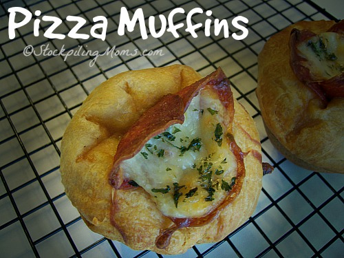 Pizza Muffins are great and super easy to make with your favorite pizza toppings!