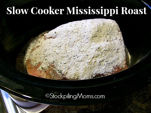 Slow Cooker Mississippi Roast is delicious and only 5 ingredients needed!