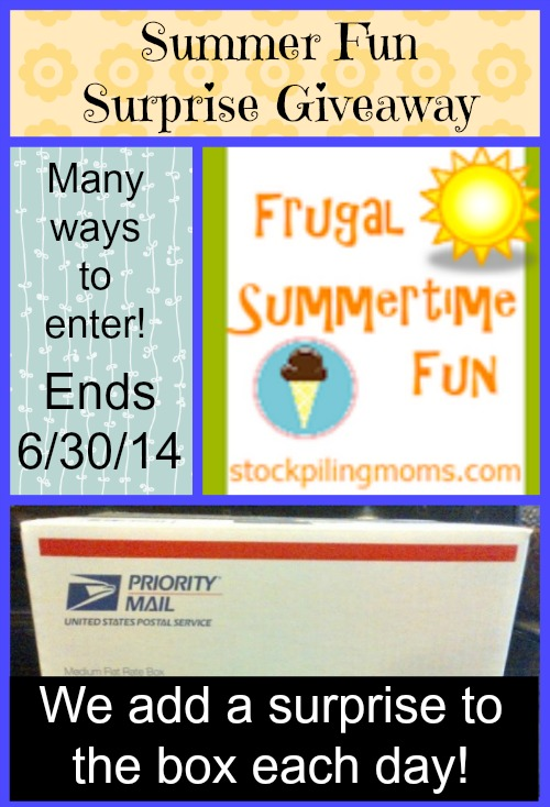 Summer Fun Surprise Giveaway - a HUGE giveaway filled with amazing surprises! Ends 6/30/14 at 11:59 pm ET. #Giveaway