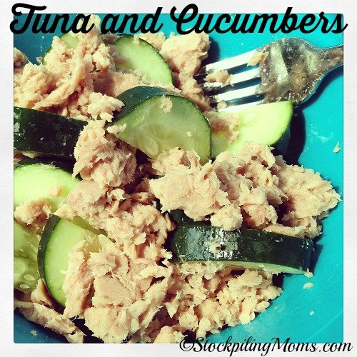 Tuna and Cucumbers are such a healthy lunch! #paleo #cleaneating #glutenfree