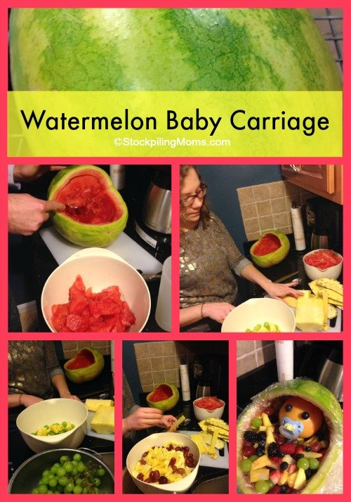 Watermelon Baby Carriage Collage