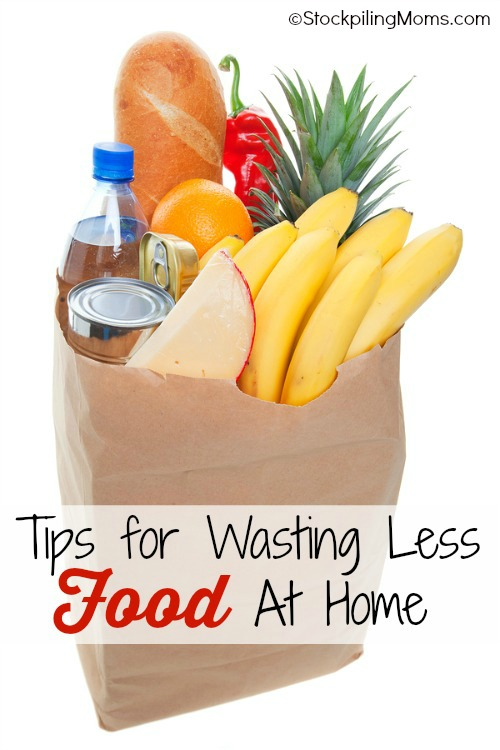 Tips for Wasting Less Food at Home - a great way to save money! #savemoney #budget