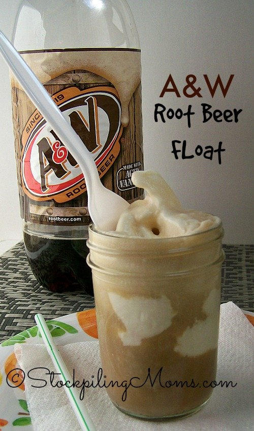 A&W Root Beer Float is the perfect summer time treat! Kids and adults love it!
