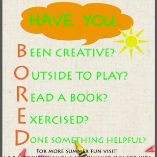 BORED Printable and 70 Kid Friendly Summer Activities