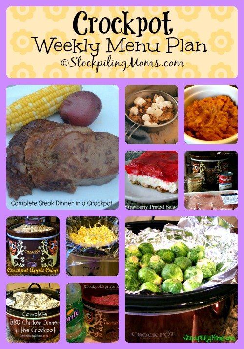 Crockpot Weekly Menu Plan #slowcooker #menu #recipes