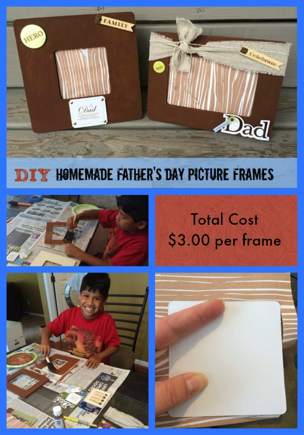Diy Homemade Father S Day Picture Frames