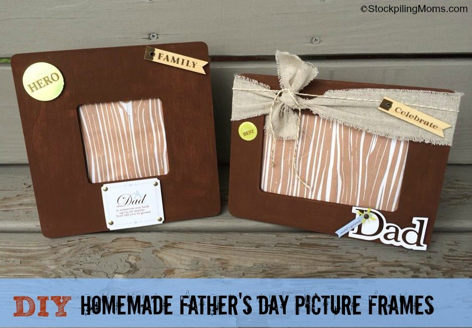 DIY Homemade Father's Day Picture Frames