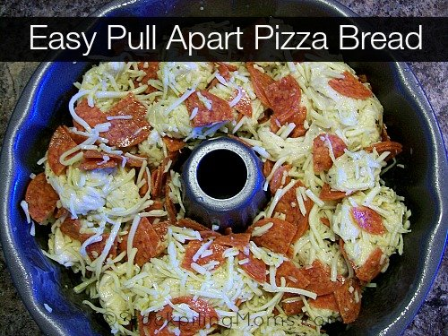 Easy Pull Apart Pizza Bread is amazing! This is my families favorite Friday night snack!