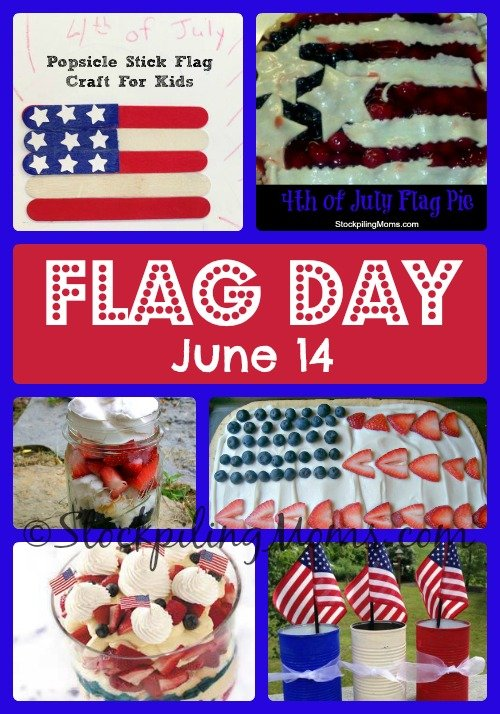 Flag Day is June 14! #flag #crafts #recipes