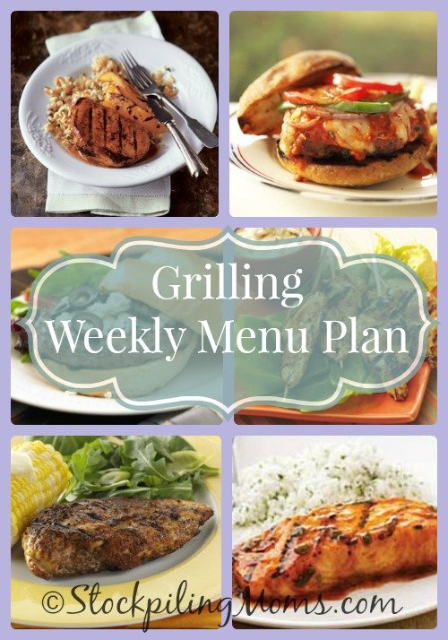Grilling Weekly Menu Plan #grilling #recipes #menu