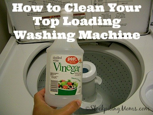 How to Clean Your Top Loading Washing Machine with one simple ingredient!