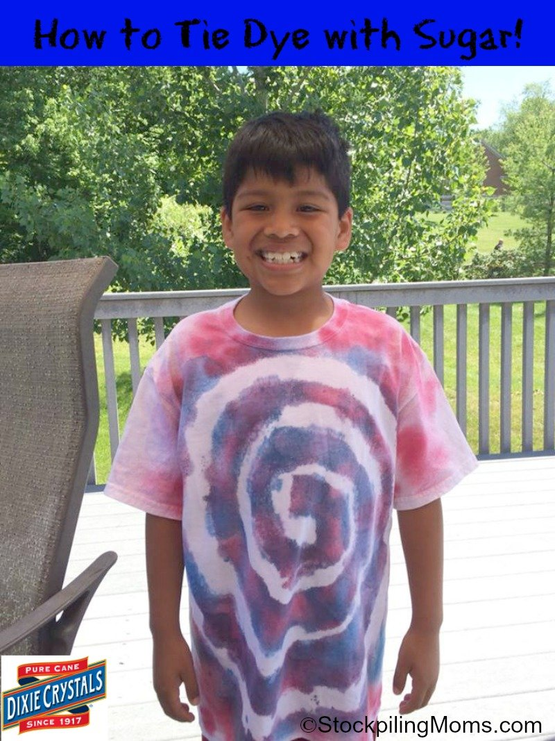 How to Tie Dye with Sugar