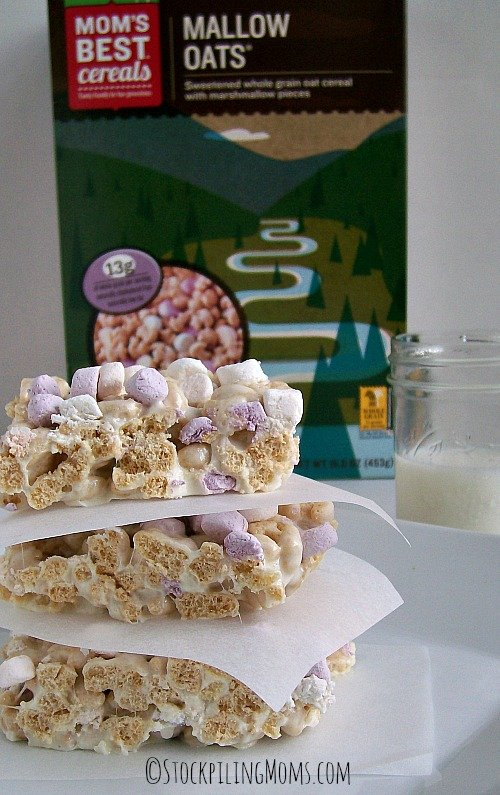 Mallow Treat Bars taste amazing! Kids love them and you only need 3 ingredients! #MomsBest