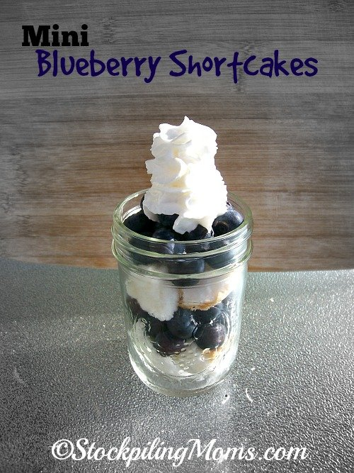 Mini Blueberry Shortcakes are the perfect dessert for having company over! You can prep this delicious dessert ahead of time!