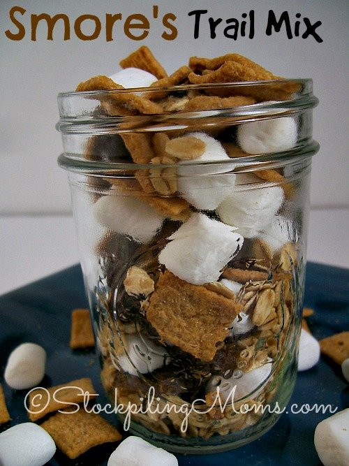 S'mores Trail Mix Recipe is the perfect snack on the go.