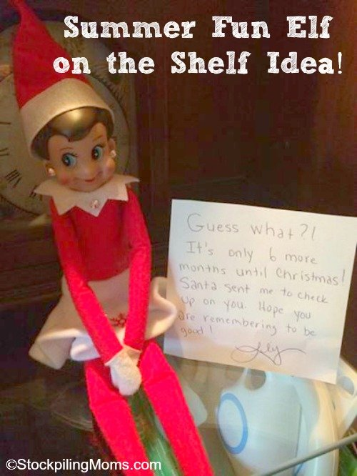 Summer Fun Elf on the Shelf Idea