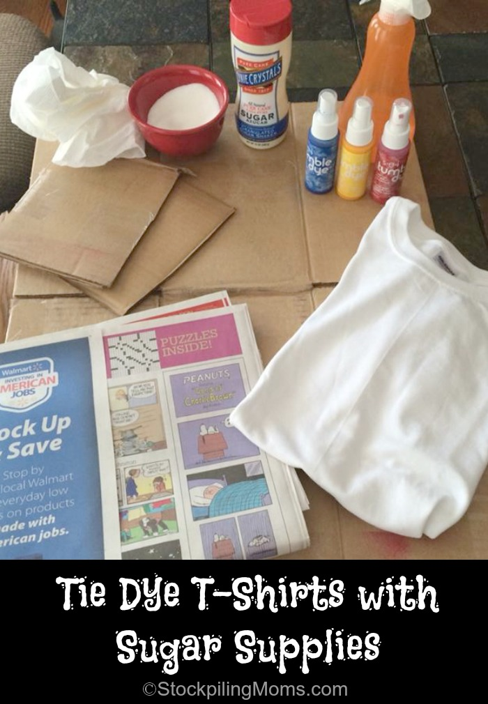 Supplies for Tie Dye T-Shirts with Sugar #DixieCrystals