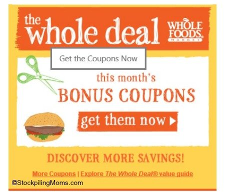 Whole Foods Coupons 2 final