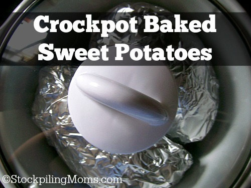 Crockpot Baked Sweet Potatoes are the best way to make them! So easy and perfect when you want to extend your cooking time.