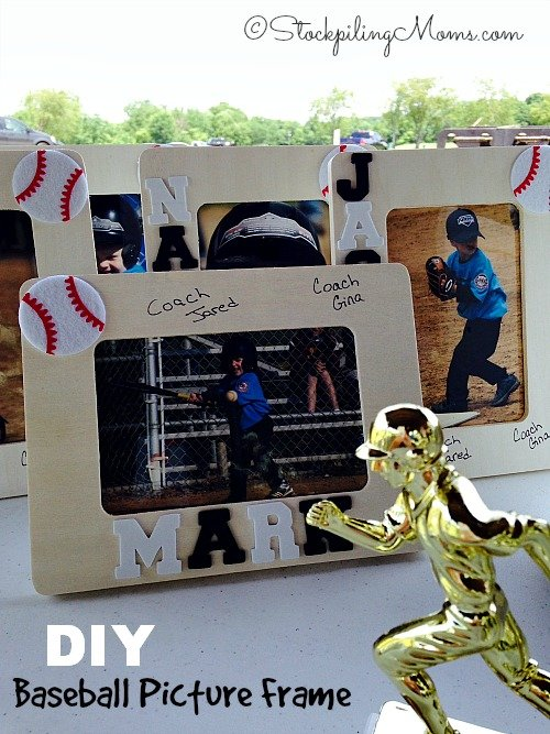 This DIY Baseball Picture Frame makes for a great year end gift for the kids or the coach!