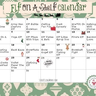 Elf On A Shelf Calendar