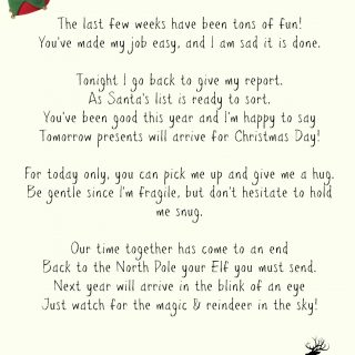 Elf On A Shelf Goodbye Letter