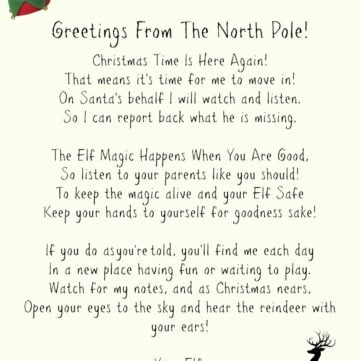 Elf On A Shelf Welcome Letter